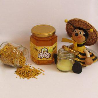 мед с пчелно млечице и прашец